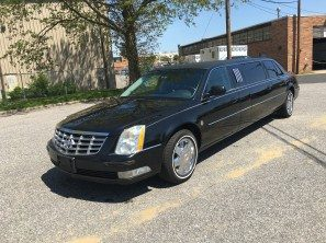 "2008 CADILLAC FEDERAL 65"" SIX DOOR USED FUNERAL LIMOUSINE"