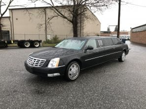 "2010 CADILLAC 65"" SIX DOOR USED FUNERAL LIMOUSINE"