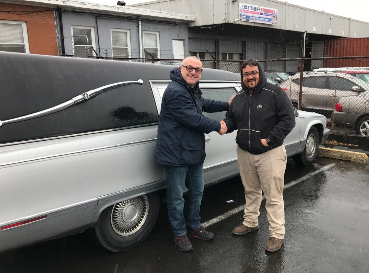 New Delivery: 1996 Cadillac Superior Fleetwood Funeral Hearse Delivered to Finland Customer
