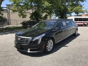 "2019 CADILLAC FEDERAL 70"" SIX DOOR FUNERAL LIMOUSINE"