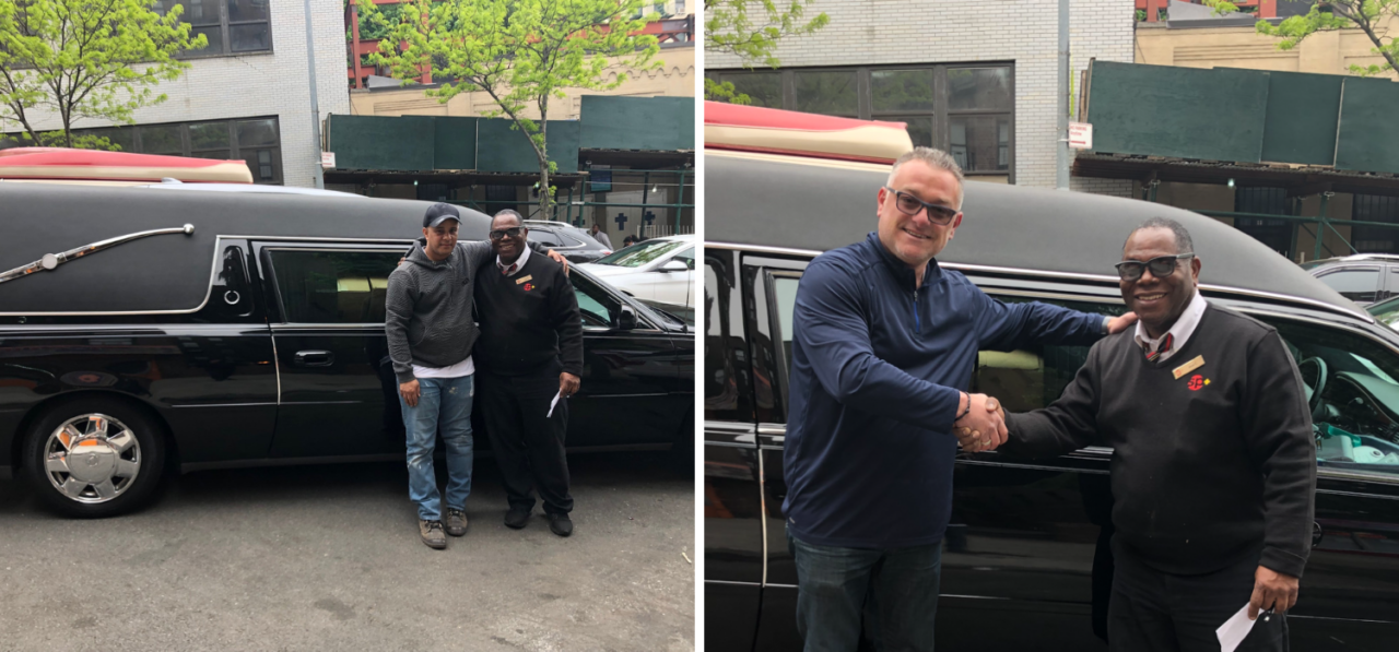 New Delivery: 2003 Cadillac Hearse Delivered to the Community of Nizao