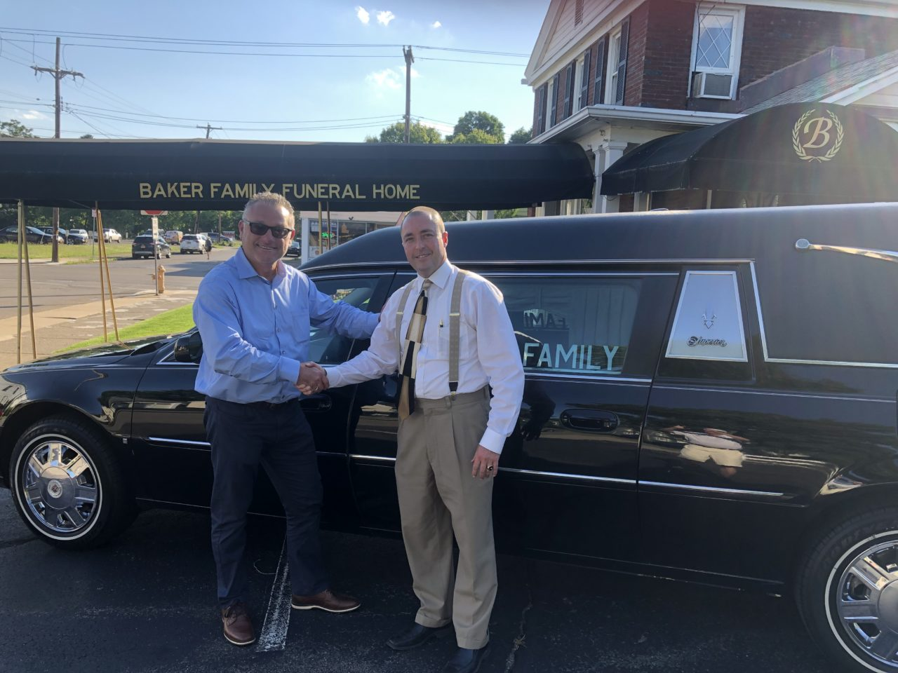 New Delivery: 2008 Cadillac Used Hearse Delivered to Baker Funeral Home in Elmira, NY