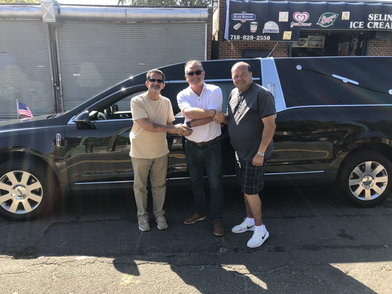 New Delivery: 2013 Lincoln Funeral Hearse delivered to M & J Funeral Livery in Bronx, New York