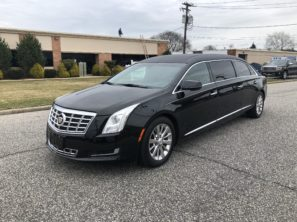 2015 CADILLAC S&S USED SIX DOOR FUNERAL LIMOUSINE