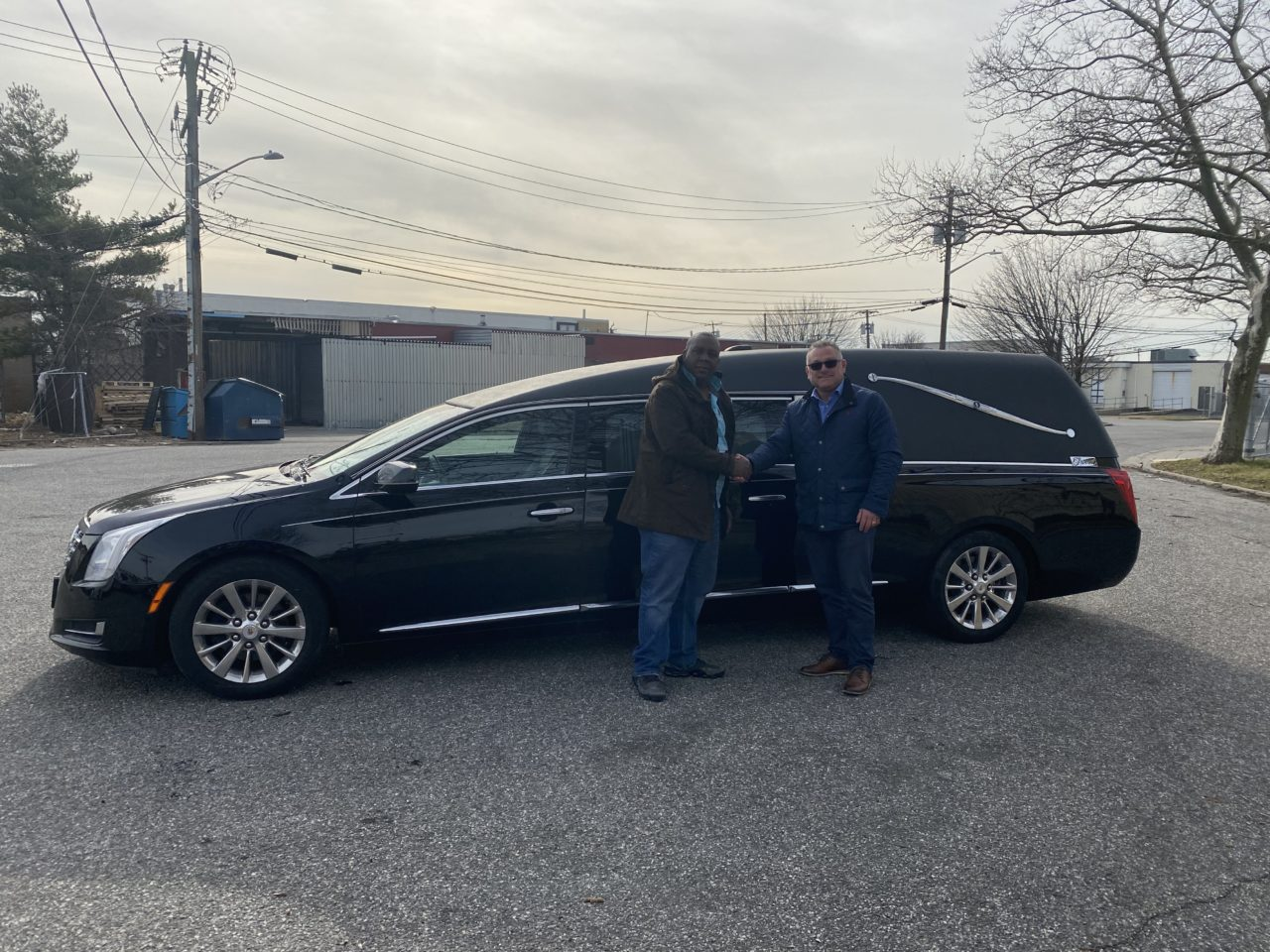 NEW DELIVERY: 2015 Cadillac Hearse Delivered to St. Rose Funeral Services LTD