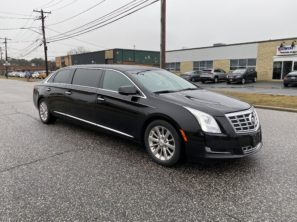 2015 CADILLAC S&S RAISED ROOF USED SIX DOOR FUNERAL LIMOUSINE