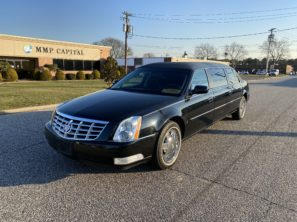 2008 CADILLAC S&S RAISED ROOF SIX DOOR FUNERAL LIMOUSINE